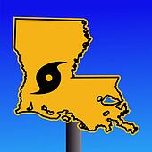 Louisiana warning sign hurricane