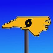 North Carolina hurricane warning sign