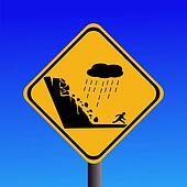 warning risk of landslide