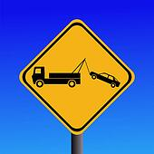 tow away zone sign