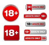 18 plus  for adults only button set