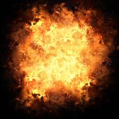 Fiery Exploding Burst Background