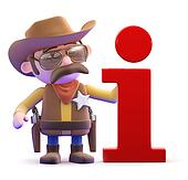 3d Cowboy sheriff has information