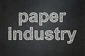 Industry concept: Paper Industry on chalkboard background