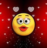 Cartoon Kiss Of Love