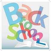 BACK TO SCHOOL words text book pages