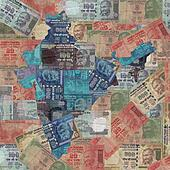 India map with Rupees