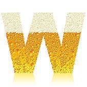 alphabet beer W