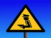 armed security guard sign