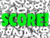 Score word on a background of 3d numbers to illustrate your rank, rating, grade or evaluation assessment on a test, quiz or inspection