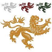 Vector Royal Lions Set