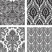 Vector Set of Damask Patterns