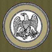 Vector Green Eagle Seal