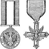 Vector Vintage Military Medals
