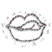 group  people  shape  lips