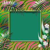 tropic scrapbook page
