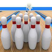 3D guy bowling
