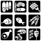 meat food icons