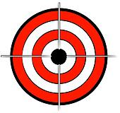 red white and black bullseye target