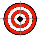 red white and black bullseye target
