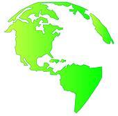 landmass of north and south america