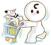 Basket Cart Dog Bull Terrier