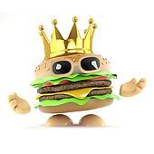 3d King burger