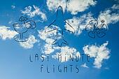 travel industry: airplane and last minute flight booking