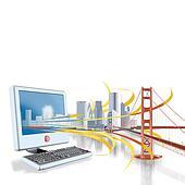 Computer City and bridge
