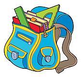 School Bag Clip Art - Royalty Free - GoGraph