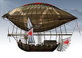 military fantastic Zeppelin.