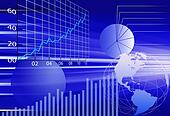 Business world financial data abstract background