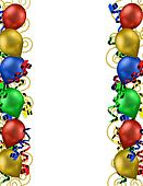 Birthday Balloons Border