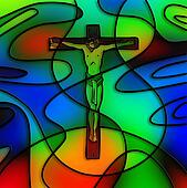 Stained Glass Crucifixion