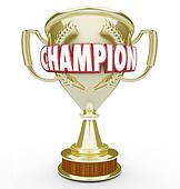 Champion Word Golden Trophy Prize Best Performance