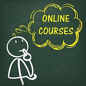 Blackboard Stickman Thinking Online Courses
