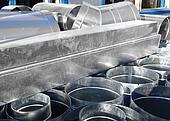 modern metallic ventilation design to build a modern factory