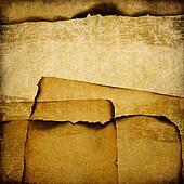 Burned grunge paper background.