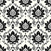 Vector Daisy and Vine Pattern