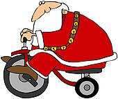 Santa On A Tricycle