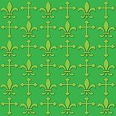 Seamless Fleur De Lis and crosses