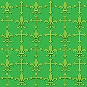 Seamless Fleur de Lis and Cross background