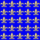Seamless Fleur de Lis on a blue background