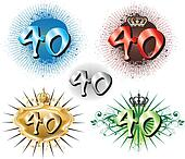 40th Birthday or Anniversary