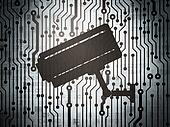Safety concept: circuit board with Cctv Camera