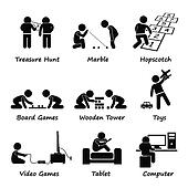 Children Playing Games Clipart