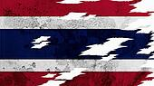 Thailand Flag lacerate texture