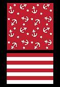 seamless pattern marine theme