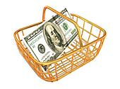 Consumer basket with dollar