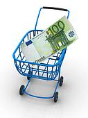 Consumer basket with euro